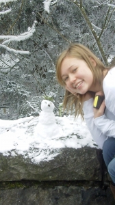 Kar's first snowman of the season!